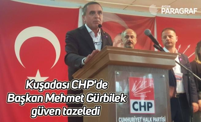 Kuşadası CHP'de Başkan Mehmet Gürbilek güven tazeledi