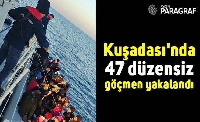 Kuşadası'nda 47 düzensiz göçmen yakalandı