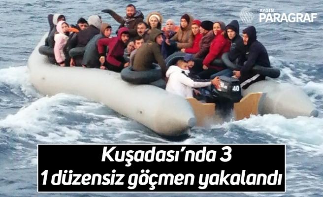 Kuşadası'nda 31 düzensiz göçmen yakalandı