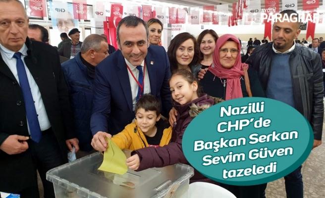 Nazilli CHP'de Başkan Serkan Sevim Güven tazeledi