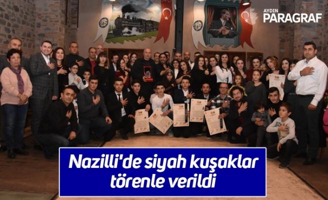 Nazilli'de siyah kuşaklar törenle verildi
