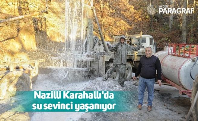 Nazilli Karahallı'da su sevinci yaşanıyor