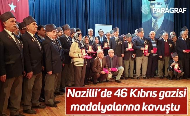 Nazilli'de 46 Kıbrıs gazisi madalyalarına kavuştu
