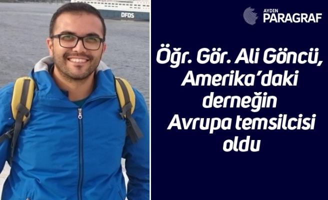 Öğr. Gör. Ali Göncü, Amerika'daki derneğin Avrupa temsilcisi oldu