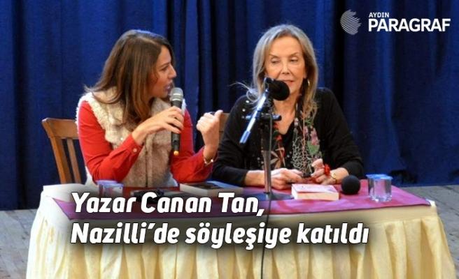 Yazar Canan Tan, Nazilli'de söyleşiye katıldı