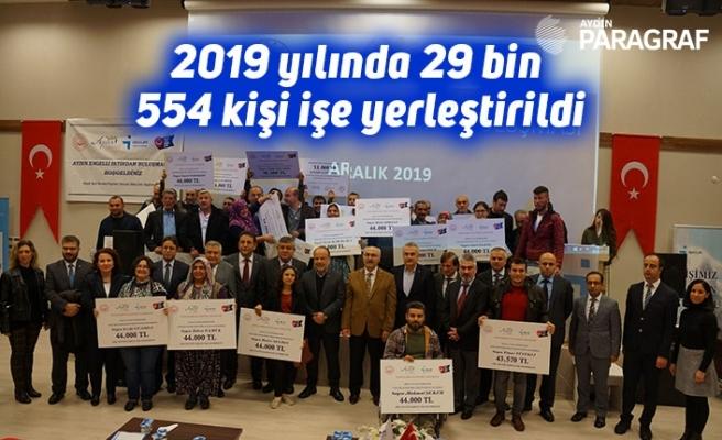 2019 yılında 29 bin 554 kişi işe yerleştirildi