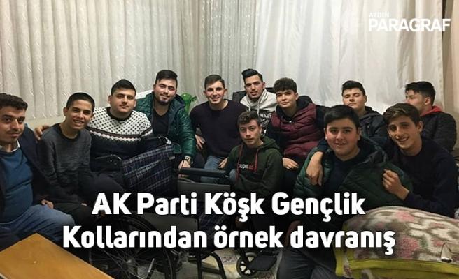 AK Parti Köşk Gençlik Kollarından örnek davranış