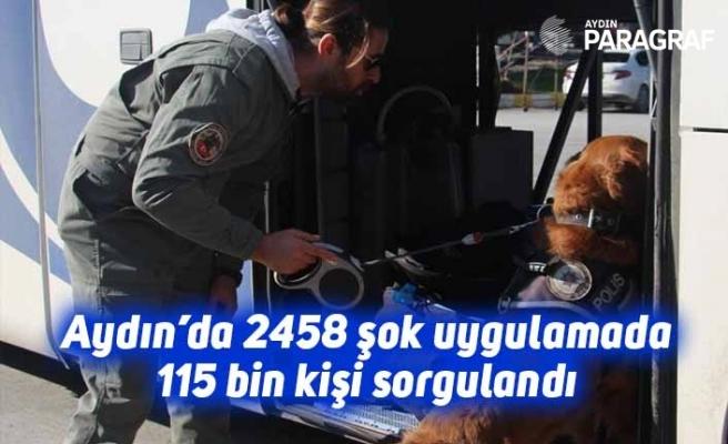 Aydın'da 2458 şok uygulamada 115 bin kişi sorgulandı
