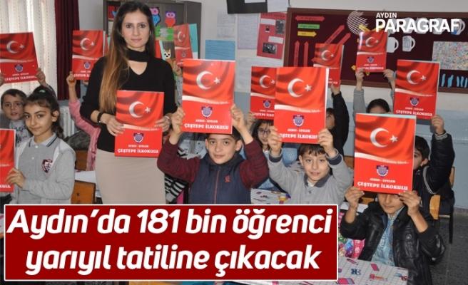 Aydın'da 181 bin öğrenci yarıyıl tatiline çıkacak