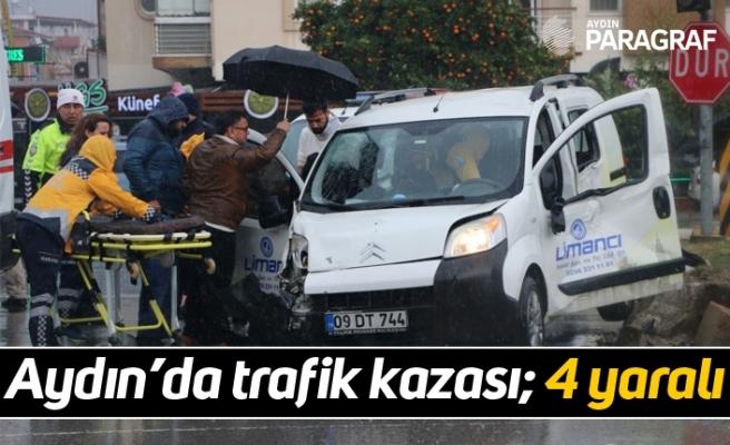 Aydın'da trafik kazası; 4 yaralı