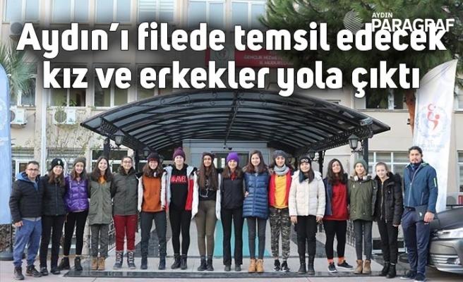 Aydın'ı filede temsil edecek kız ve erkekler yola çıktı