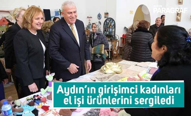 Aydın'ın girişimci kadınları el işi ürünlerini sergiledi
