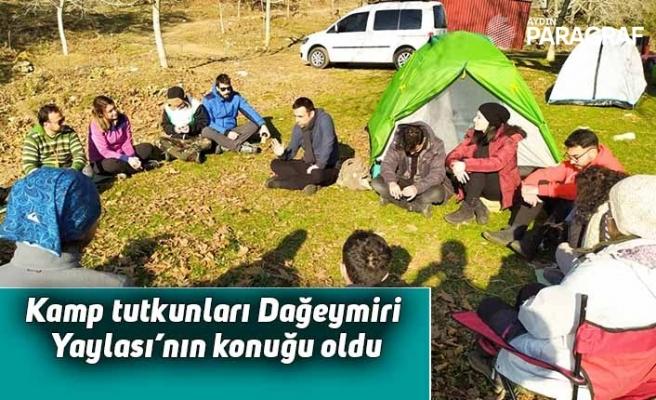 Aydınlı kamp tutkunları Dağeymiri Yaylası'nın konuğu oldu