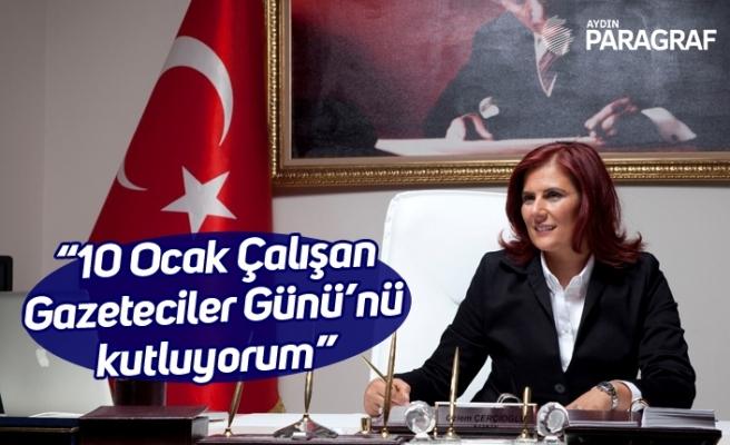 """Başkan Çerçioğlu; """"10 Ocak Çalışan Gazeteciler Günü'nü kutluyorum"""""""