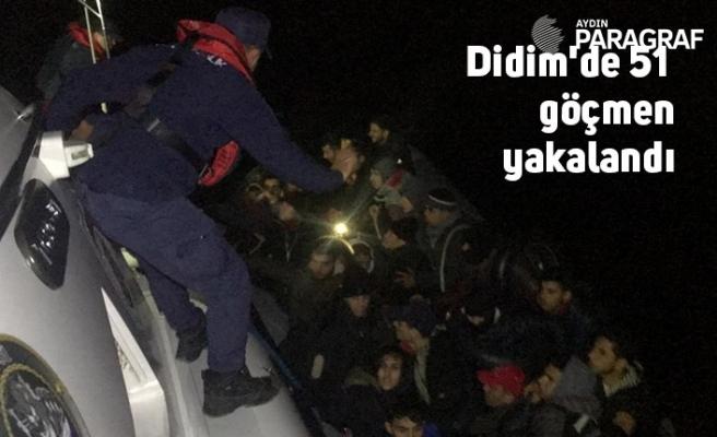 Didim'de 51 düzensiz göçmen yakalandı