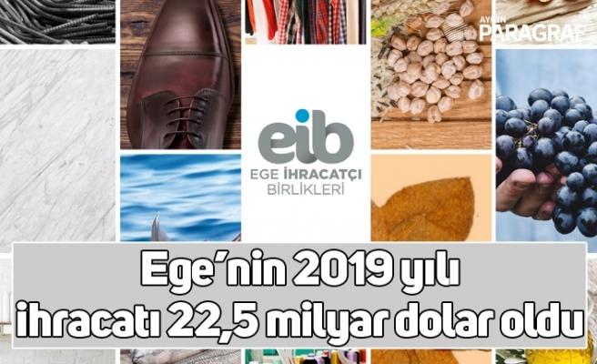 Ege'nin 2019 yılı ihracatı 22,5 milyar dolar oldu
