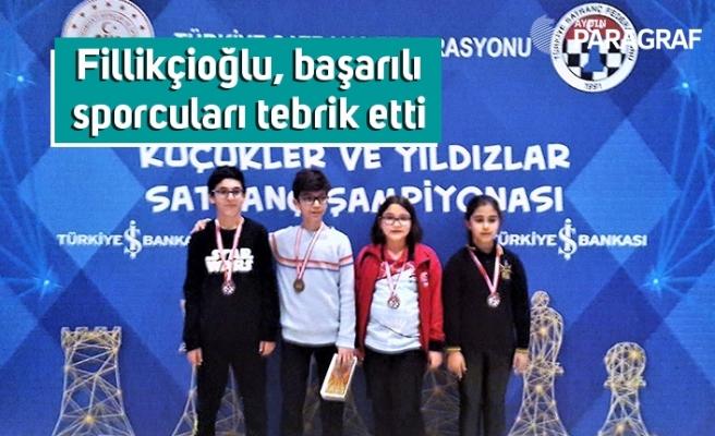 Fillikçioğlu, başarılı sporcuları tebrik etti