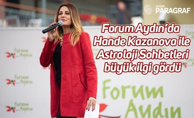 Forum Aydın'da Hande Kazanova ile Astroloji Sohbetleri büyük ilgi gördü