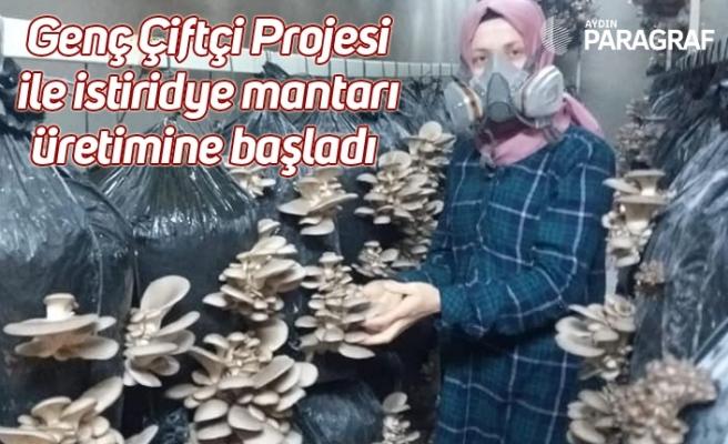 Genç Çiftçi Projesi ile istiridye mantarı üretimine başladı