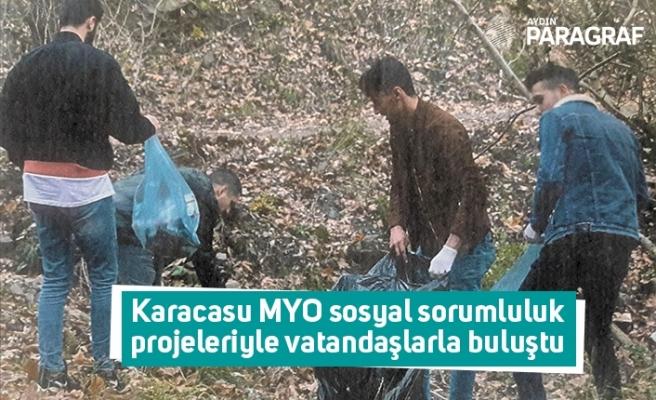 Karacasu MYO sosyal sorumluluk projeleriyle vatandaşlarla buluştu