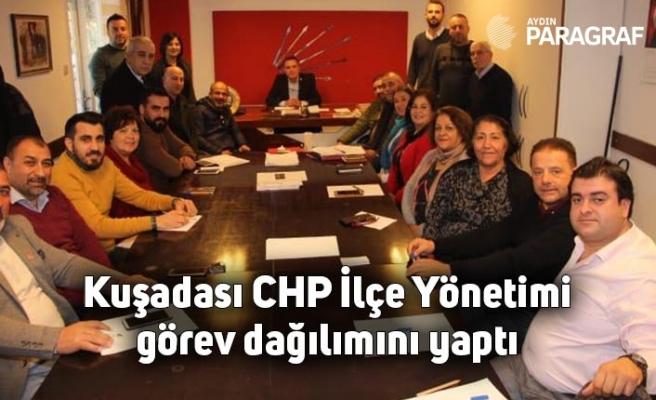 Kuşadası CHP İlçe Yönetimi görev dağılımını yaptı