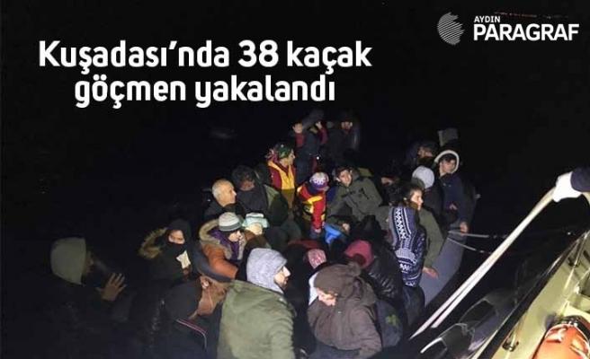 Kuşadası'nda 38 kaçak kaçak yakalandı