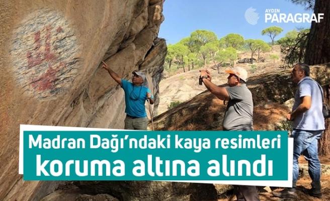 Madran Dağı'ndaki kaya resimleri koruma altına alındı