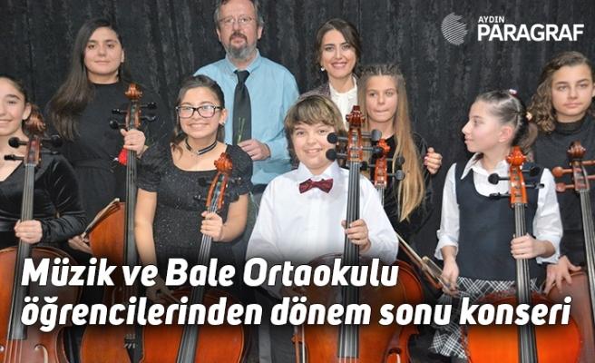 Müzik ve Bale Ortaokulu öğrencilerinden dönem sonu konseri