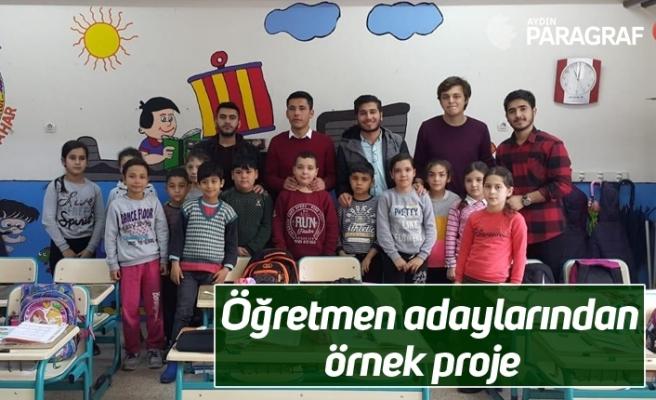 Öğretmen adaylarından örnek proje