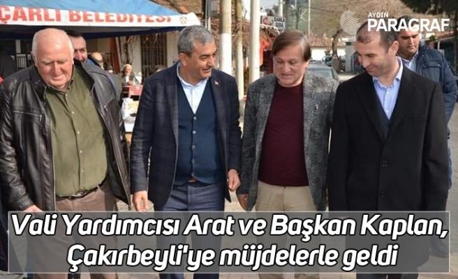 Vali Yardımcısı Arat ve Başkan Kaplan, Çakırbeyli'ye müjdelerle geldi