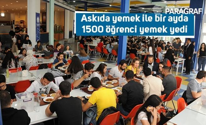 Askıda yemek ile bir ayda 1500 öğrenci yemek yedi