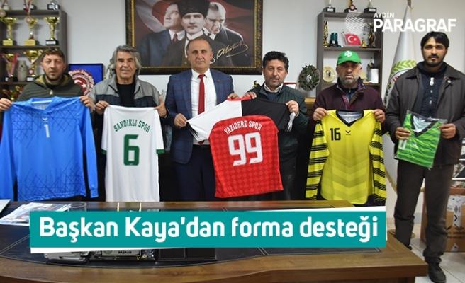 Başkan Kaya'dan forma desteği