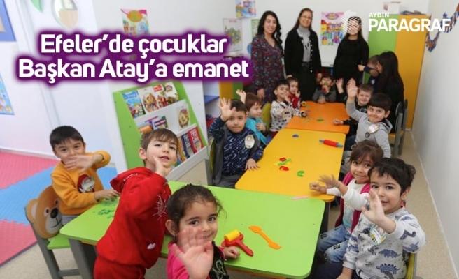 Efeler'de çocuklar Başkan Atay'a emanet