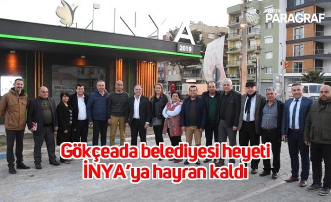 Gökçeada belediyesi heyeti İNYA'ya hayran kaldı