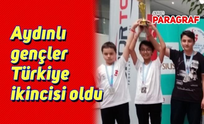 Aydınlı gençler Türkiye ikincisi oldu