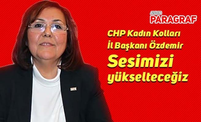 CHP Kadın Kolları İl Başkanı Özdemir: Sesimizi yükselteceğiz