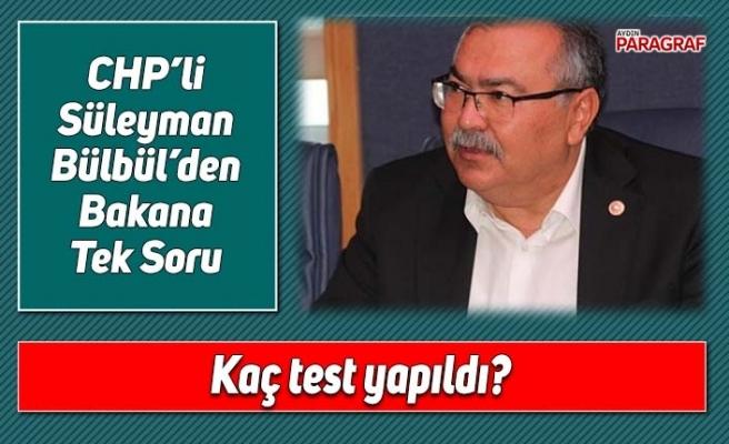 CHP'li Bülbül'den Bakana Tek Soru; Kaç test yapıldı
