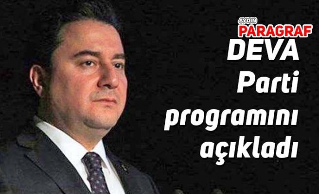 DEVA Parti programını açıkladı