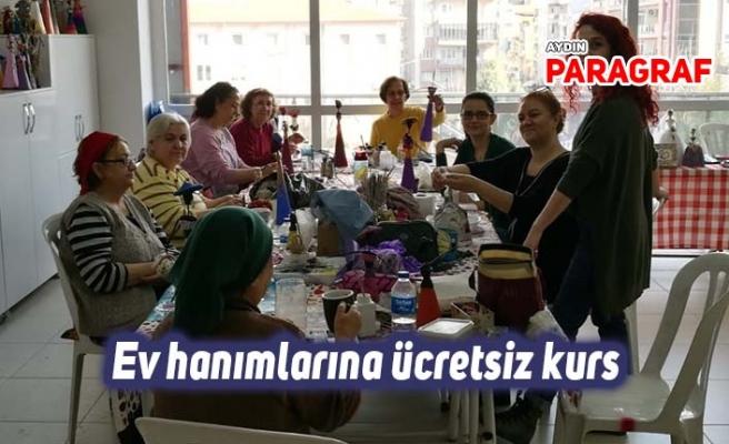 Ev hanımlarına ücretsiz kurs