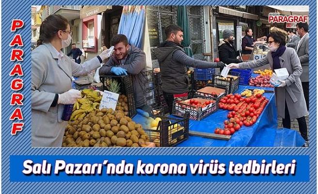Salı Pazarı'nda korona virüs tedbirleri