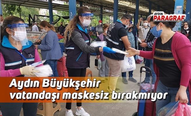 Aydın Büyükşehir vatandaşı maskesiz bırakmıyor