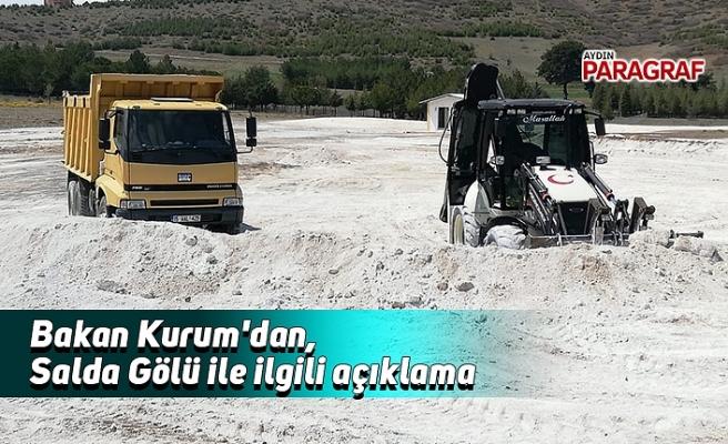 Bakan Kurum'dan, Salda Gölü ile ilgili açıklama