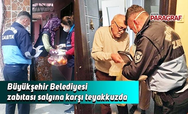 Büyükşehir Belediyesi zabıtası salgına karşı teyakkuzda
