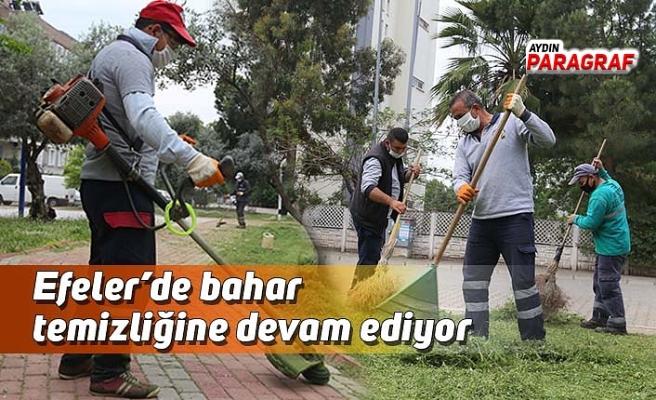Efeler'de bahar temizliğine devam ediyor