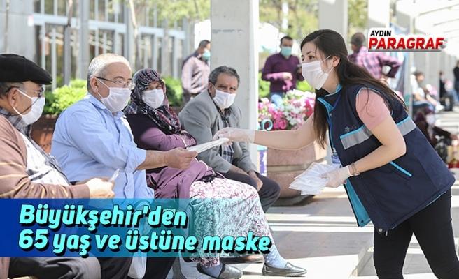 Büyükşehir'den 65 yaş ve üstüne maske