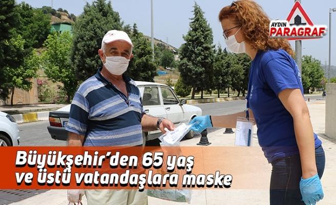 Büyükşehir'den 65 yaş ve üstü vatandaşlara maske