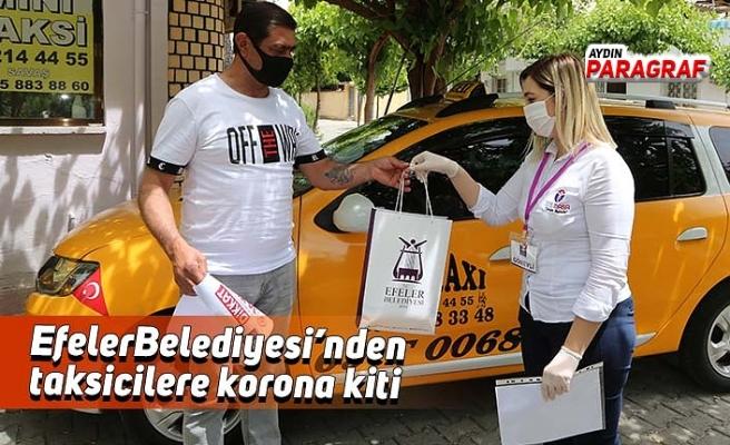 Efeler Belediyesi'nden taksicilere korona kiti