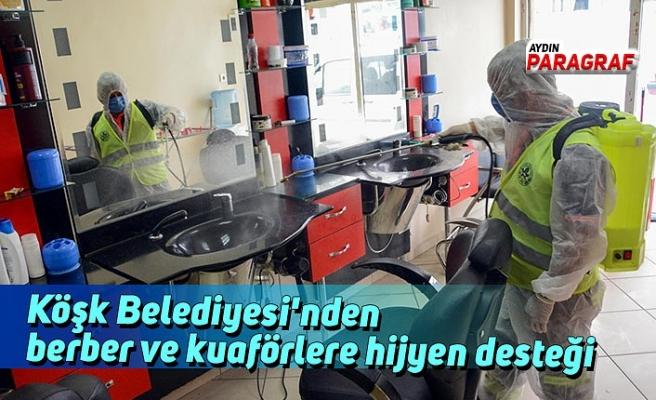 Köşk Belediyesi'nden berber ve kuaförlere hijyen desteği