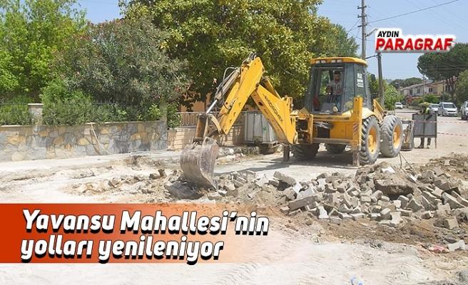Yavansu Mahallesi'nin yolları yenileniyor