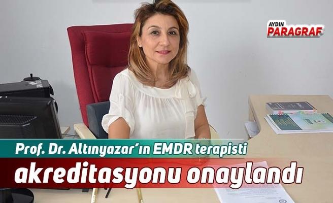 Prof. Dr. Altınyazar'ın EMDR terapisti akreditasyonu onaylandı